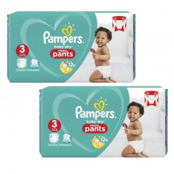Maxi Giga Pack 160 Couches Pampers Baby Dry Pants taille 3