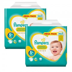 Maxi Giga Pack 270 couches Pampers New Baby Premium Protection sur Couches Zone