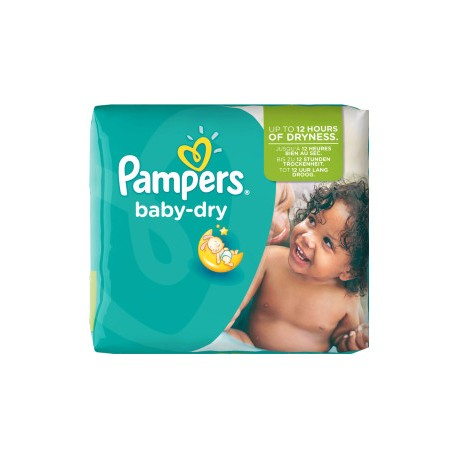 Pack 25 Couches Pampers Baby Dry taille 5+ sur Couches Zone