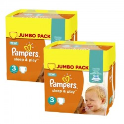 Pack Jumeaux 415 couches Pampers Sleep & Play sur Couches Zone