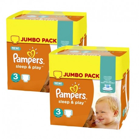 Maxi Giga Pack 410 Couches Pampers Sleep & Play sur Couches Zone