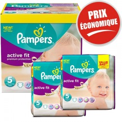 Pack Jumeaux 376 couches Pampers Active Fit sur Couches Zone