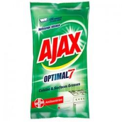 Ajax Lingettes 50 pièces Optimal 7 Cuisine & Surfaces Grasses sur Couches Zone