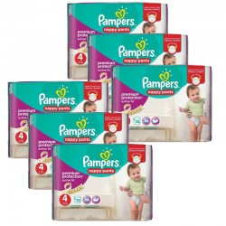 Maxi Giga Pack 224 Couches Pampers Active Fit - Pants taille 4