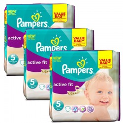Giga Pack 141 Couches Pampers Active Fit taille 5 sur Couches Zone