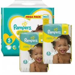Maxi Pack 315 Couches Pampers New Baby - Premium Protection taille 5