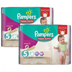 Maxi Pack 180 Couches Pampers Active Fit - Pants taille 5