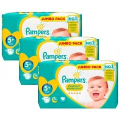 Giga Pack 135 couches Pampers New Baby Premium Protection sur Couches Zone