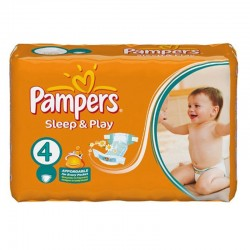 Pack 36 Couches Pampers Sleep & Play taille 4 sur Couches Zone
