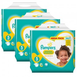 Giga Pack 210 Couches Pampers New Baby - Premium Protection taille 5 sur Couches Zone