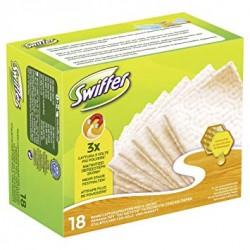 Swiffer Dry 18 Lingettes Attrape-Poussiere Bois & Parquet sur Couches Zone
