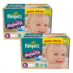 Maxi Giga Pack 235 Couches Pampers Active Fit taille 5 sur Couches Zone