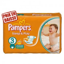 83 Couches Pampers Sleep & Play taille 3 sur Couches Zone