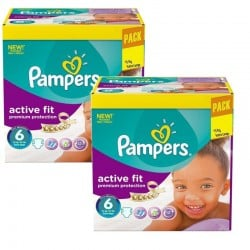 Maxi Pack 240 Couches Pampers Active Fit - Premiun Protection taille 6 sur Couches Zone