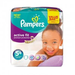 Pack 32 couches Pampers Active Fit Premium Protection sur Couches Zone