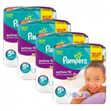 128 Couches Pampers Active Fit Taille 5 En Solde Sur Couches Zone