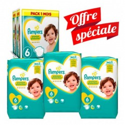 Giga Pack 168 couches Pampers New Baby Premium Protection sur Couches Zone