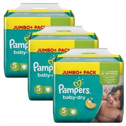 Giga Pack 144 Couches Pampers Baby Dry sur Couches Zone