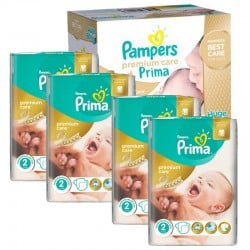 Maxi Giga Pack 440 Couches Pampers Premium Care - Prima taille 2