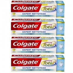 Lot 4 Dentifrices Colgate Total Expert Nettoyage sur Couches Zone