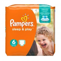 Pack 30 Couches Pampers Sleep & Play taille 6 sur Couches Zone