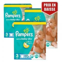 Maxi Pack 432 Couches Pampers Active Baby Dry taille 3 sur Couches Zone
