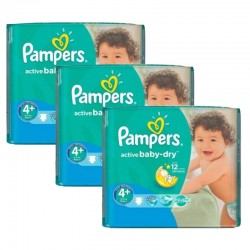 Mega Pack 192 Couches Pampers Active Baby Dry taille 4+
