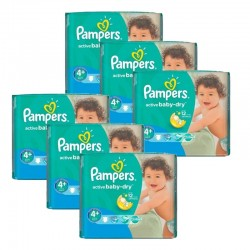 Maxi Pack 288 Couches Pampers Active Baby Dry taille 4+