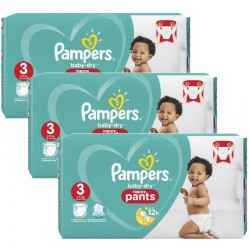 Maxi Pack 130 Couches Pampers Baby Dry Pants taille 3 sur Couches Zone