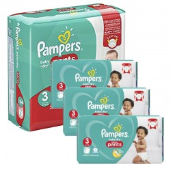 Giga Pack 390 Couches Pampers Baby Dry Pants taille 3