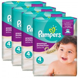 Giga Pack 336 Couches Pampers Active Fit - Premium Protection taille 4