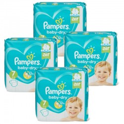 Maxi Pack 138 Couches Pampers Baby Dry taille 7 sur Couches Zone