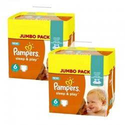 Maxi Pack 210 Couches Pampers Sleep & Play taille 5