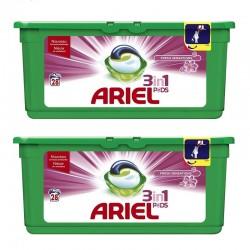 Lot de 2 Ariel Pods 28 Fresh Sensations 3in1 (795,2 gr) sur Couches Zone