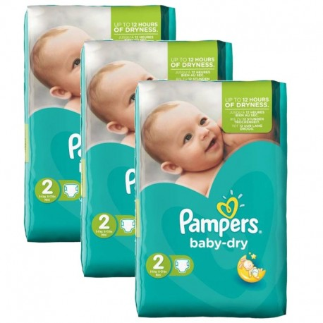 Giga Pack 126 couches Pampers Baby Dry sur Couches Zone