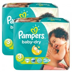 Giga Pack 170 couches Pampers Baby Dry