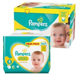 Pack 117 Couches Pampers New Baby Premium Protection sur Couches Zone