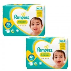 Maxi Pack 124 couches Pampers New Baby Premium Protection sur Couches Zone