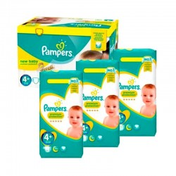 Pack Jumeaux 434 couches Pampers New Baby Premium Protection sur Couches Zone