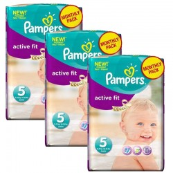 Giga Pack 282 Couches Pampers Active Fit sur Couches Zone