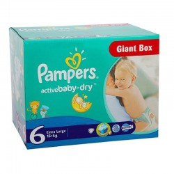 Giga Pack 126 couches Pampers Active Baby Dry sur Couches Zone