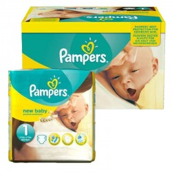 Maxi Giga pack 92 Couches Pampers new baby - premium protection taille 1 sur Couches Zone