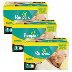Pack Jumeaux 506 couches Pampers New Baby Premium Protection sur Couches Zone