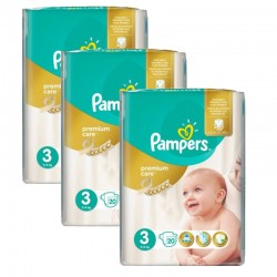 Giga Pack 60 Couches Pampers Premium Care - Prima taille 3