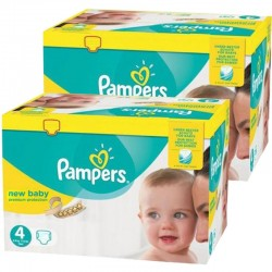 Giga Pack Jumeaux 585 couches Pampers New Baby Premium Protection sur Couches Zone