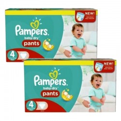 pack Jumeaux 564 Couches Pampers Baby Dry Pants taille 4 sur Couches Zone