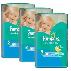 Giga Pack 264 couches Pampers Active Baby Dry sur Couches Zone