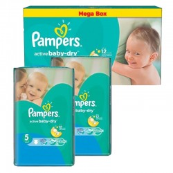 Pack Jumeaux 440 couches Pampers Active Baby Dry sur Couches Zone