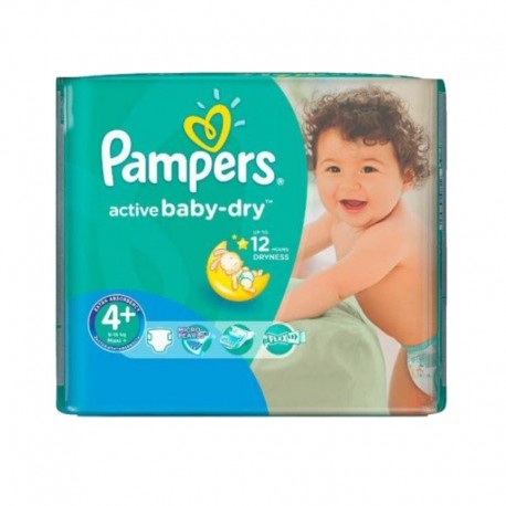Pack 70 couches Pampers Active Baby Dry sur Couches Zone