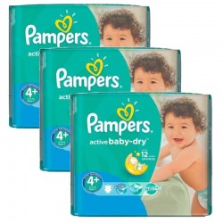 Giga Pack 140 Couches Pampers Active Baby Dry taille 4+ sur Couches Zone